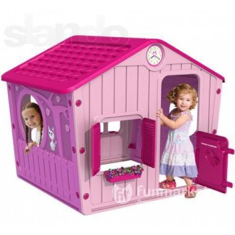 Детский игровой домик розовый 140*108*116 см