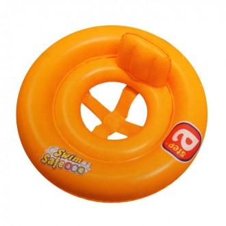 """Круг для плавания с сидением и спинкой двухкамерный """"Swim Safe"""", ступень А, от 1-2 лет"""