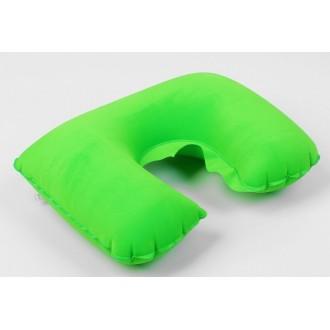 Подушка дорожная надувная (зеленая)