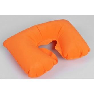 Подушка для шеи дорожная, надувная, цвет оранжевый