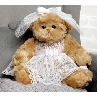 "Мягкая игрушка ""Медведица, красавица невеста"", 20 см"