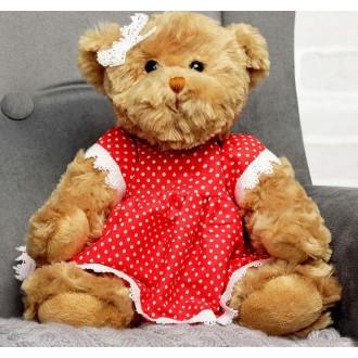"""Мягкая игрушка """"Медведица, девушка в горошек"""" 20см"""