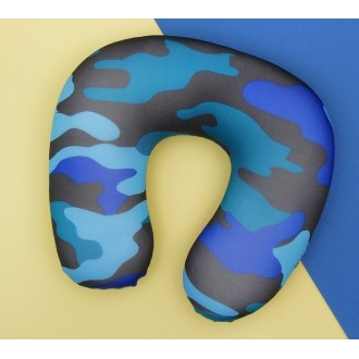 """Мягкая игрушка-антистресс подголовник """"Камуфляж"""", цвет синий 30*30 см"""