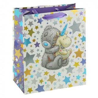 """Пакет подарочный """"Мишка"""" люкс, 24 х 20 х 10,2 см"""