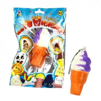 Игрушка-антистресс мммняшка Squishy, мини-мороженое рожок (8 см)