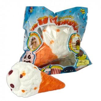 Игрушка-антистресс Squishy мммняшка, большой рожок мороженого (15 cм)