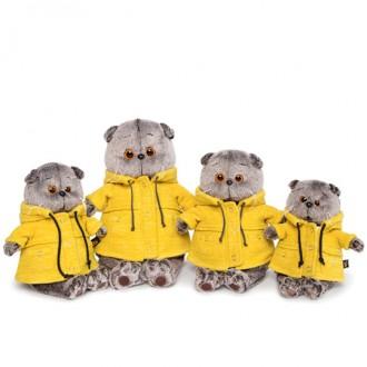 "Кот Басик в желтой куртке ""B&Co"" (25 см)"