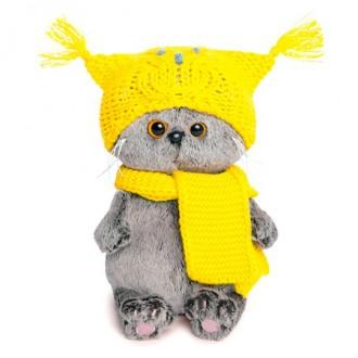 Басик BABY в шапке-сова и шарфе (20 см)