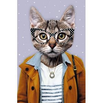 Открытка с конвертом Кошка