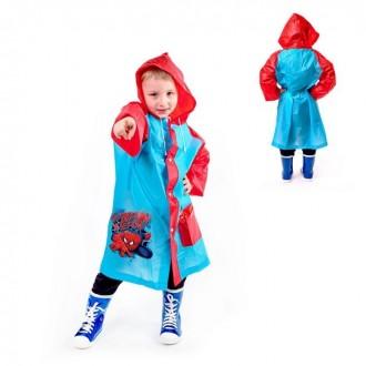"""Дождевик детский в чехле """"Супергерой"""", Человек-паук, р-р S, рост 92-98 см"""