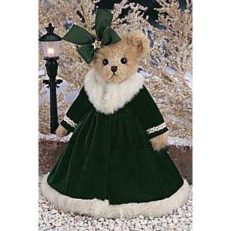 Мишка в зелёном платье(36см)