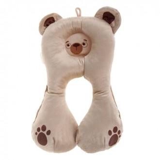 Подушка дорожная детская «Медвежонок», цвет бежевый