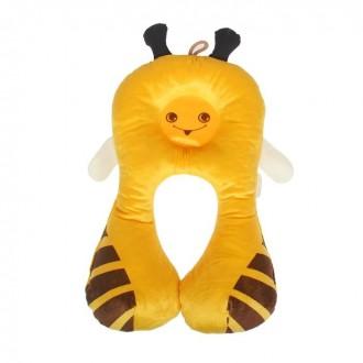 Подушка дорожная детская «Пчёлка», цвет жёлтый (под заказ)
