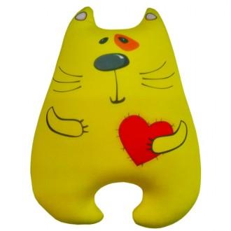 Игрушка-антистресс Кот Милашка жёлтый