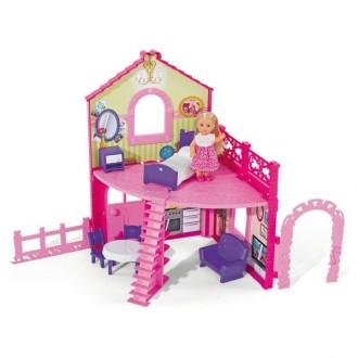 Куколка Эви и её домик (для кукол 12 см)