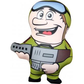 Игрушка-антистресс Солдат с автоматом (35 см)