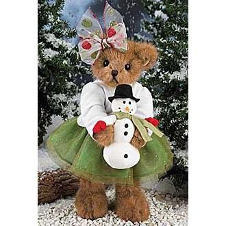 Мишка со снеговиком(36 см)