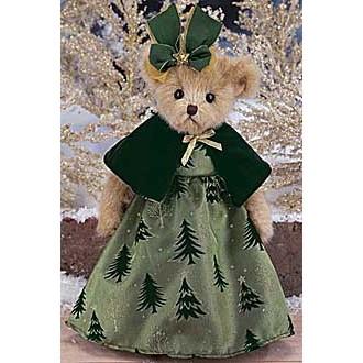 Мишка в платье с ёлочками(36см)
