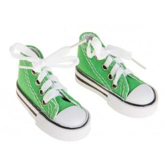 Кеды для игрушек, длина стопы 7,5 см, цвет зеленый