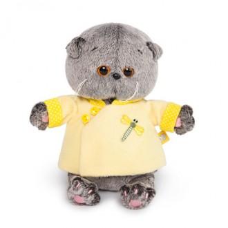 Кот Басик BABY в желтой курточке в китайском стиле (20 см)