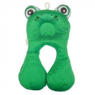 Подушка дорожная детская «Лягушка», цвет зелёный