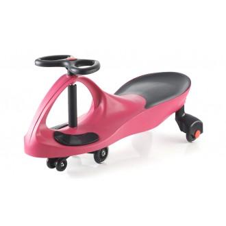 Машинка детская с полиуретановыми колесами розовая «БИБИКАР»