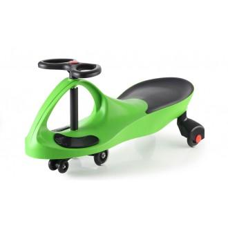Машинка детская с полиуретановыми колесами зеленая «БИБИКАР»