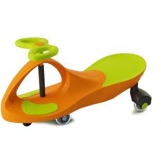 Машинка детская с полиуретановыми колесами салатово-оранжевая «БИБИКАР»