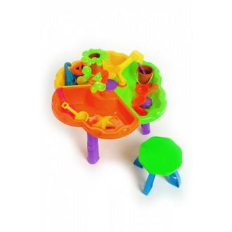 Стол игровой для песка и воды + стульчик «КРОХА»