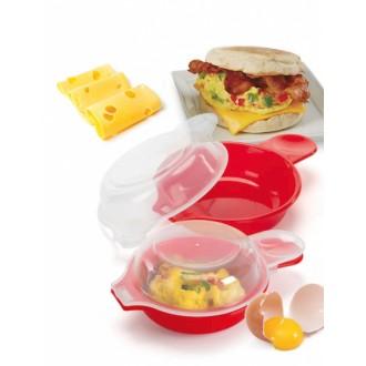 Формочки для запекания омлета и яичницы в микроволновой печи «ЗДОРОВЫЙ ЗАВТРАК»
