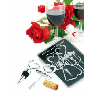 Набор подарочный: пробка и штопор «ЖЕНИХ И НЕВЕСТА»