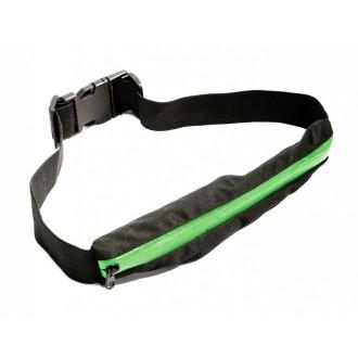 Ремень-кошелек эластичный, цвет зеленый