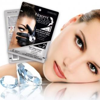 Комплексный уход за лицом: маска против морщин вокруг глаз, 7 мл. и лифтинг-крем, 3 мл. «NAOMI»