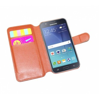 Чехол-книжка универсальный для телефона, коричневый 14*6,7 см