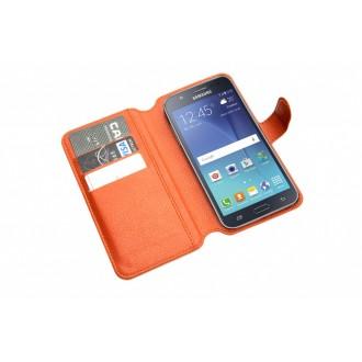 Чехол-книжка универсальный для телефона, коричневый 15,7*8 см