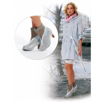 Чехлы грязезащитные для женской обуви на каблуках, размер XL