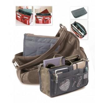 Органайзер для сумки «СУМКА В СУМКЕ» цвет серый