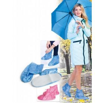 Чехлы грязезащитные для женской обуви без каблука, размер L, цвет голубой