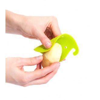 Губка для чистки овощей и фруктов многофункциональная, зеленая