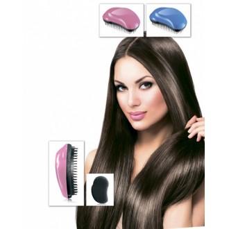 Расческа для распутывания волос «НОУ ТЭНГЛЗ» 12х8см розовая