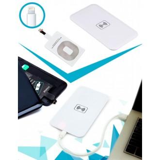 Аккумулятор беспроводной плоский для смартфонов с Lightning разъемом, белый