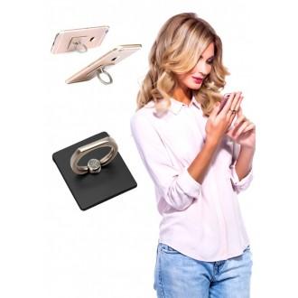 Кольцо-держатель и подставка для телефона и планшета, черное