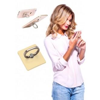 Кольцо-держатель и подставка для телефона и планшета, золотое
