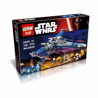 """Конструктор Lepin 05029 """"Истребитель X-Wing"""", 740 деталей"""