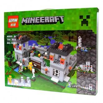 """Конструктор  LEPIN 18005 Minecraft """"Крепость"""" 795 деталей"""