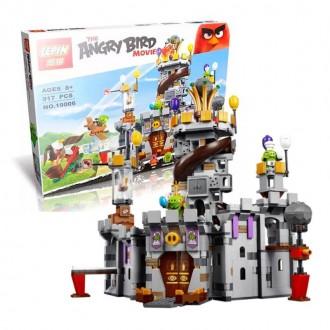 """Конструктор Angry Birds Lepin 19006 """"Замок Короля свинок"""" 917 деталей"""