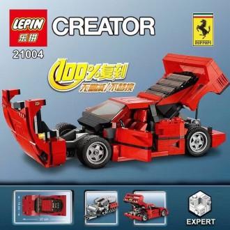 Конструктор LEPIN 21004 Ferrari F40 CREATOR, 1158 деталей