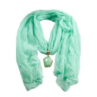 Колье-шарф «ФЛОРЕНЦИЯ» бирюзовый