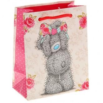 """Пакет подарочный """"Мишка с бантом"""". 14.5 х 11.5 х 6.5 см, Me to you"""
