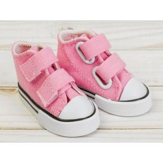 Кеды для кукол на липучках, длина стопы 7,5 см, цвет розовый